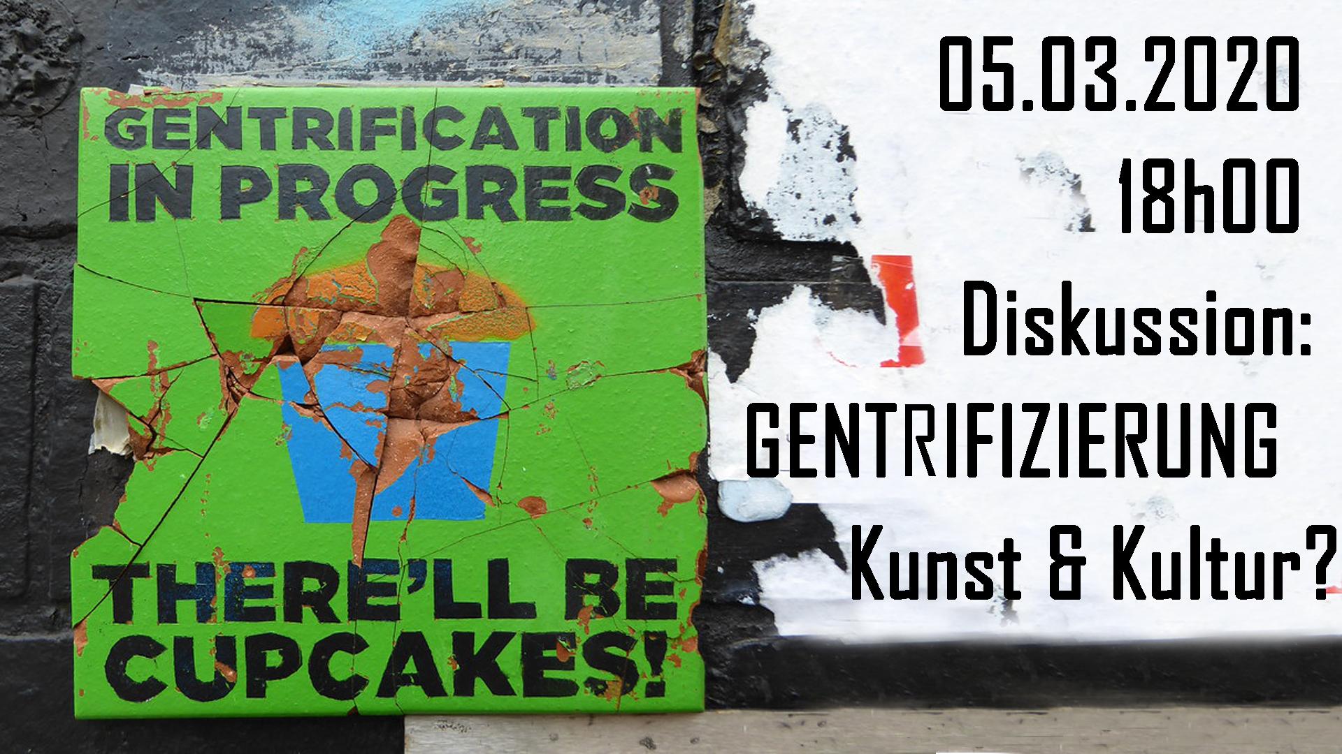 Diskussionsveranstaltung Kunst, Kultur und Gentrifizierung