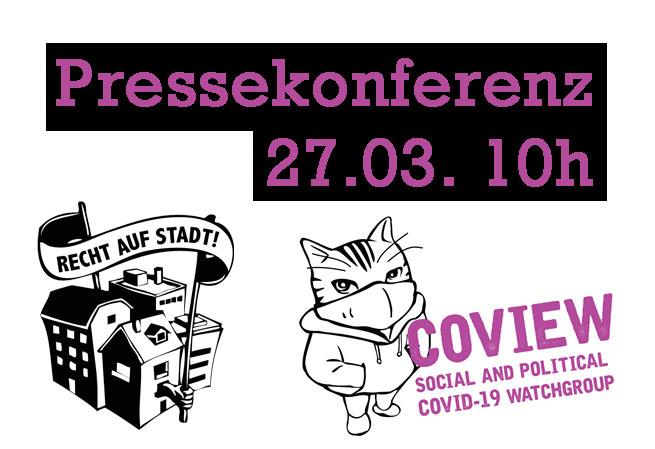 Pressekonferenz – Miete während der Krise aussetzen!